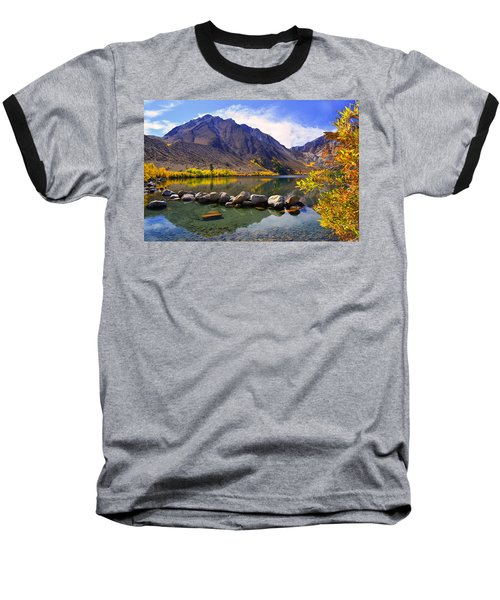 Fall Colors At Convict Lake  Baseball T-Shirt