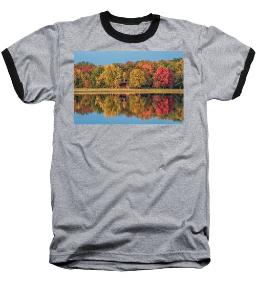 Fall Colors In Cabin Country Baseball T-Shirt by Paul Freidlund