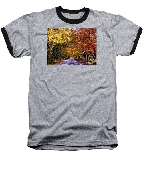 Fall Colors Near Sister Bay Baseball T-Shirt by David T  Wilkinson