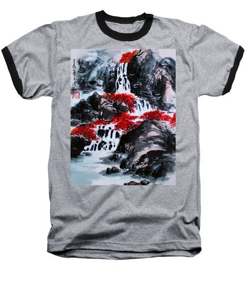 Baseball T-Shirt featuring the photograph Fall Colors by Yufeng Wang
