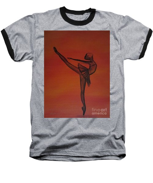 Baseball T-Shirt featuring the painting Fall Dancer 1 by Laurianna Taylor
