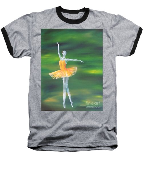 Baseball T-Shirt featuring the painting Fall Dancer 3 by Laurianna Taylor