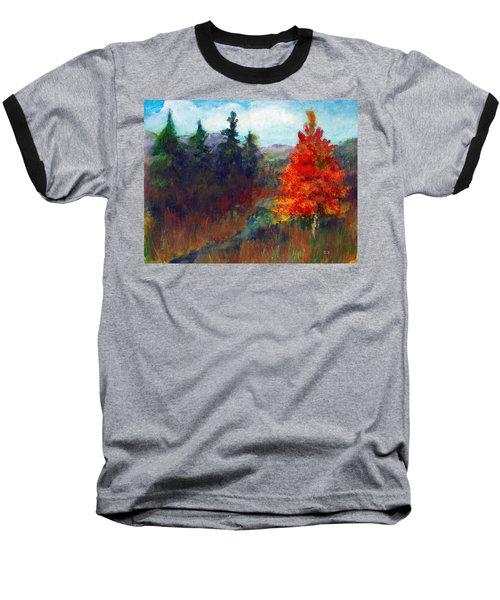 Fall Day Baseball T-Shirt by C Sitton