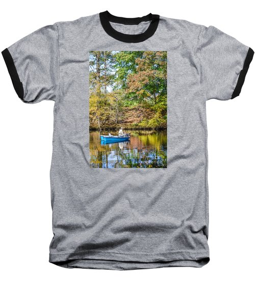Baseball T-Shirt featuring the photograph Fishing Reflection by Debbie Green