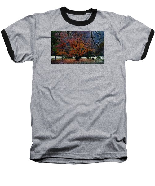 Fall Foliage At Lost Maples State Park  Baseball T-Shirt