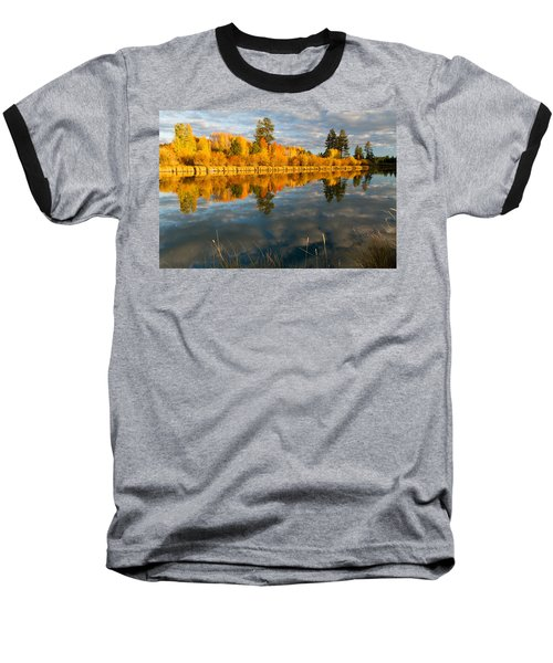 Baseball T-Shirt featuring the photograph Fall Fractal by Kevin Desrosiers