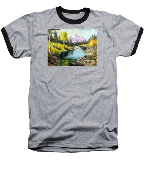 Fall In The Rockies Baseball T-Shirt by Lee Piper