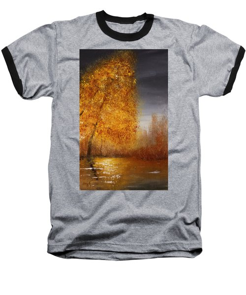 Fall Lake Reflections Baseball T-Shirt