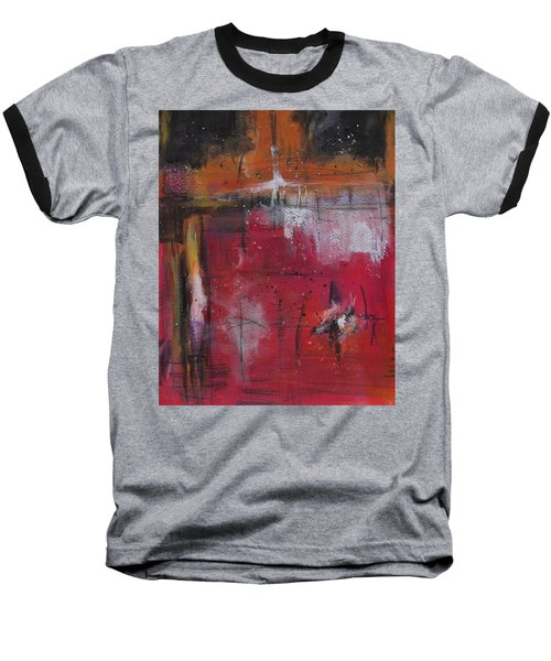 Baseball T-Shirt featuring the painting Fall by Nicole Nadeau
