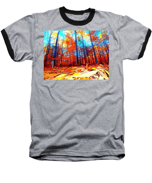 Fall On Fire Baseball T-Shirt