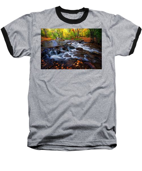 Fall On Fountain Creek Baseball T-Shirt