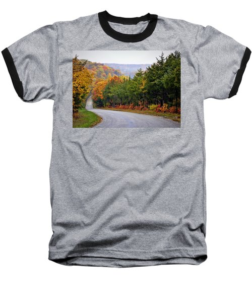 Fall On Fox Hollow Road Baseball T-Shirt