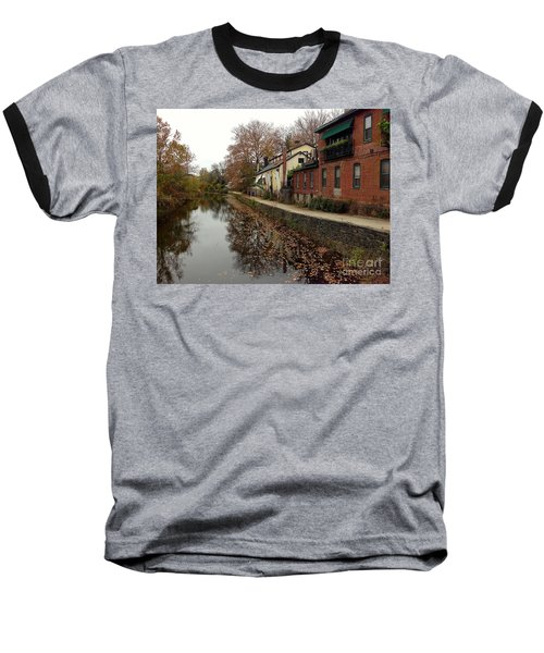 Fall On The Canal Baseball T-Shirt
