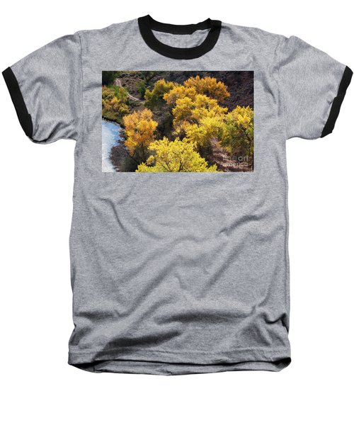 Baseball T-Shirt featuring the photograph Fall On The Chama River by Roselynne Broussard