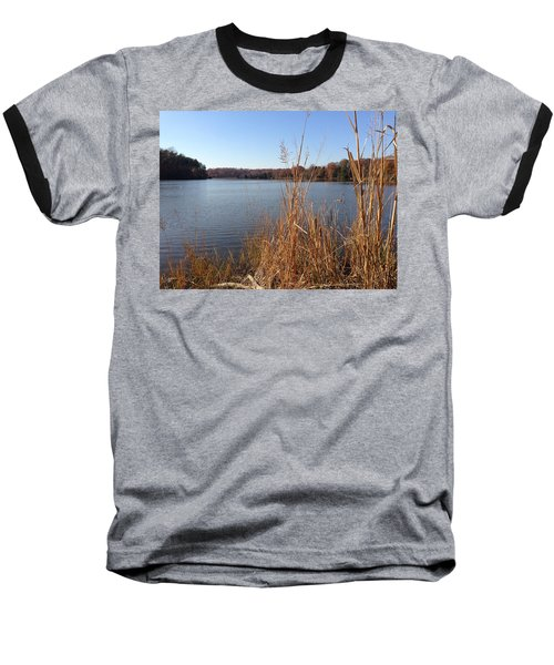 Baseball T-Shirt featuring the photograph Fall On The Creek by Charles Kraus