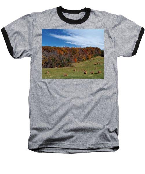 Fall On The Farm Baseball T-Shirt