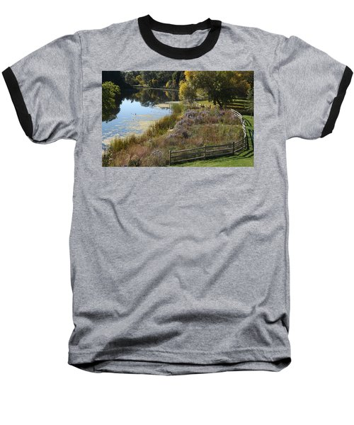 Fall On The Pond Baseball T-Shirt