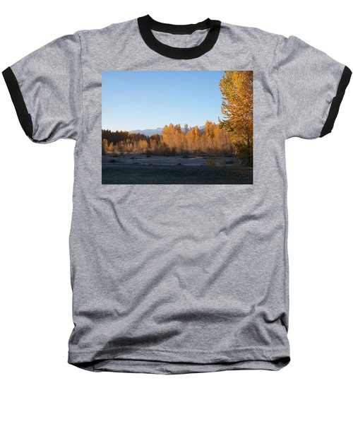 Fall On The River Baseball T-Shirt by Jewel Hengen