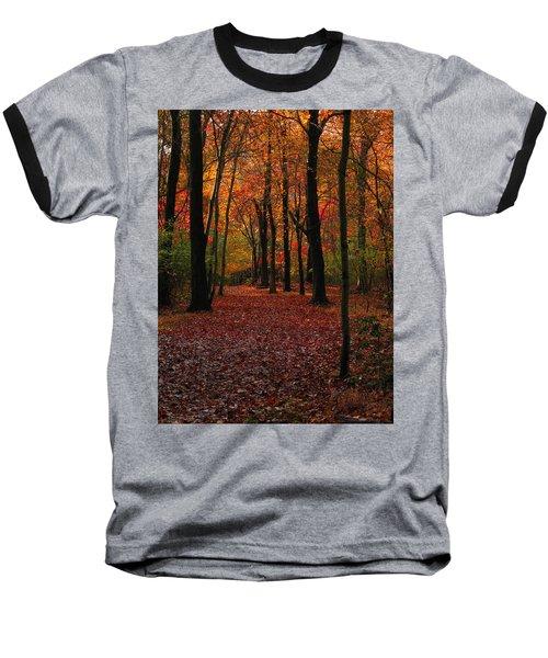 Baseball T-Shirt featuring the photograph Fall Path by Raymond Salani III