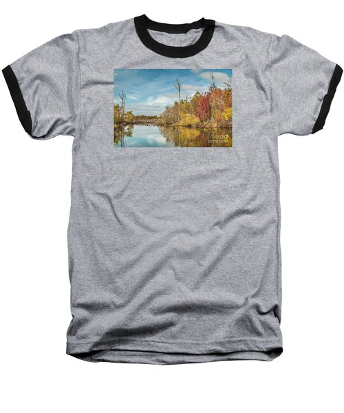 Baseball T-Shirt featuring the photograph Fall Pond by Debbie Green