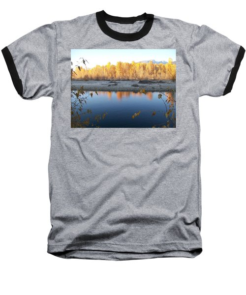 Fall Reflection 2 Baseball T-Shirt by Jewel Hengen