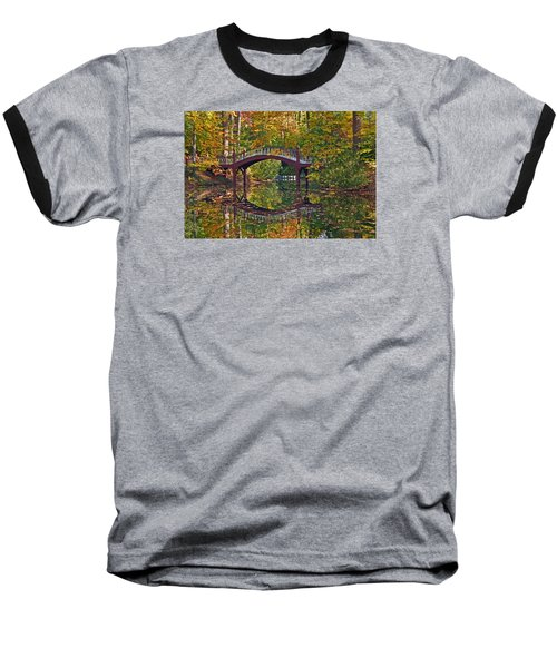 Fall Reflections At Crim Dell Baseball T-Shirt by Jerry Gammon