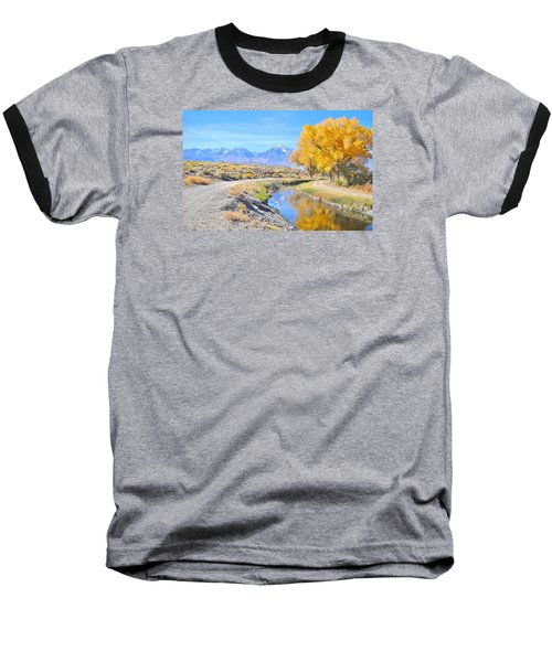 Baseball T-Shirt featuring the photograph Fall Reflections by Marilyn Diaz