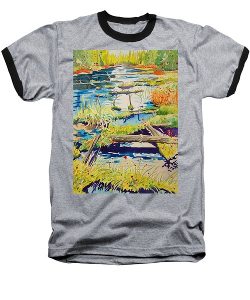 Fall River Scene Baseball T-Shirt