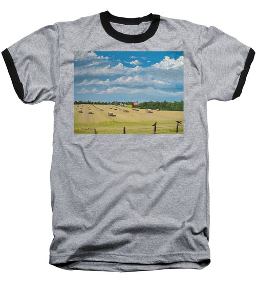 Baseball T-Shirt featuring the painting Fall Rounds by Norm Starks