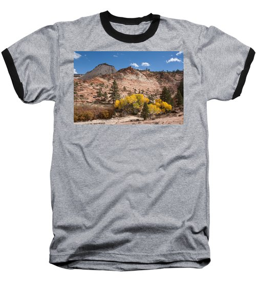 Baseball T-Shirt featuring the photograph Fall Season At Zion National Park by John M Bailey