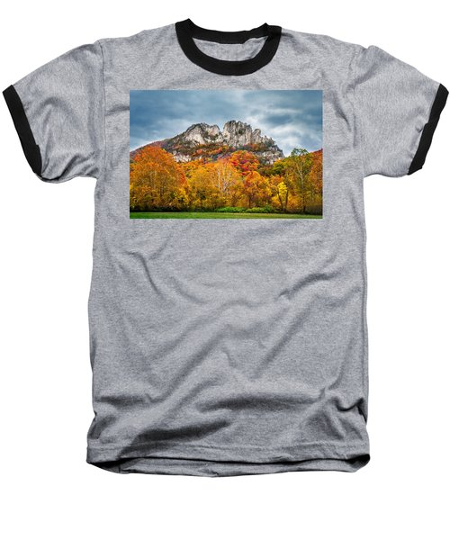 Fall Storm Seneca Rocks Baseball T-Shirt