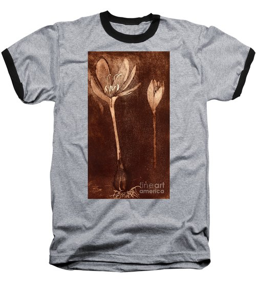 Fall Time - Autumn Crocus Meadow Safran Baseball T-Shirt