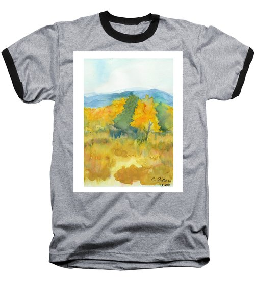Baseball T-Shirt featuring the painting Fall Trees by C Sitton