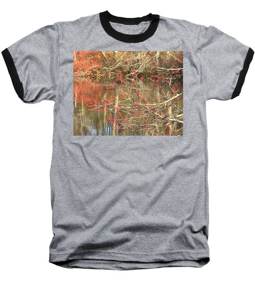 Fall Upon The Water Baseball T-Shirt by Bruce Carpenter