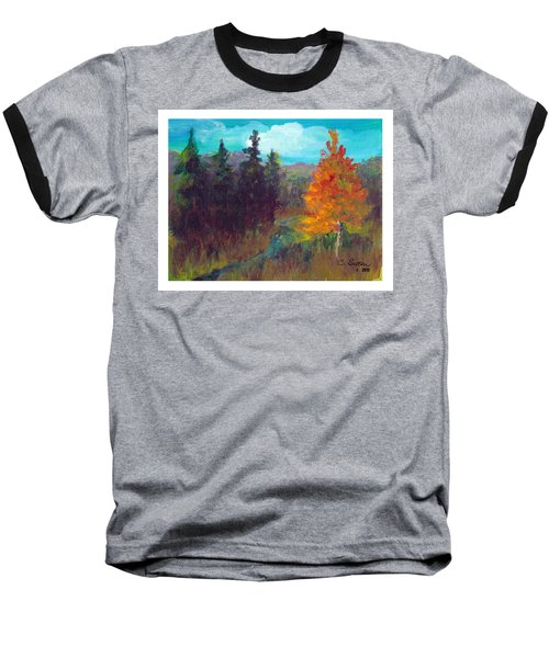 Baseball T-Shirt featuring the painting Fall View by C Sitton