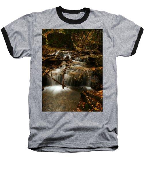 Fall With Grace Baseball T-Shirt by Jeremy Rhoades
