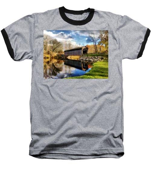 Fallasburg Bridge In Fall Baseball T-Shirt