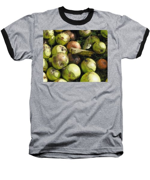 Fallen Aplles Baseball T-Shirt by Ron Harpham