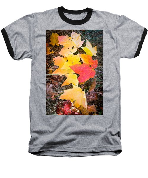 Fallen Leaves Baseball T-Shirt