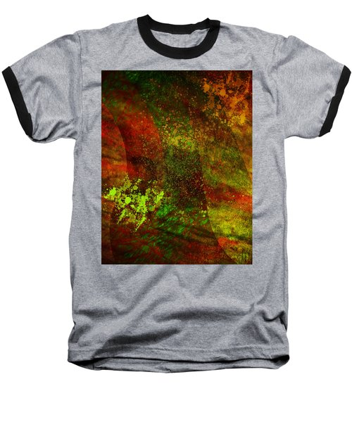 Baseball T-Shirt featuring the mixed media Fallen Seasons by Ally  White