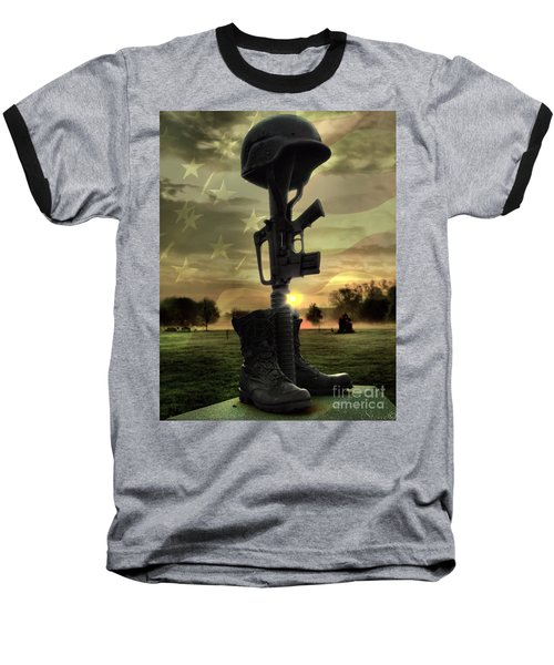 Fallen Soldiers Memorial Baseball T-Shirt