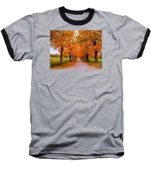 Falling For Romance Baseball T-Shirt by Lingfai Leung