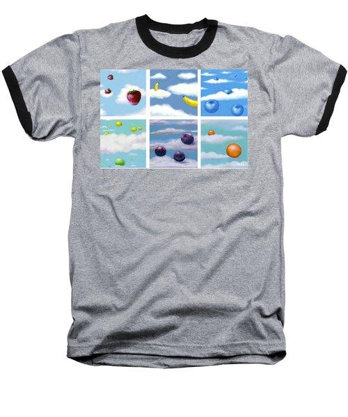 Falling Fruit Group Baseball T-Shirt