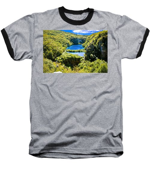 Falling Lakes Of Plitvice National Park Baseball T-Shirt by Brch Photography