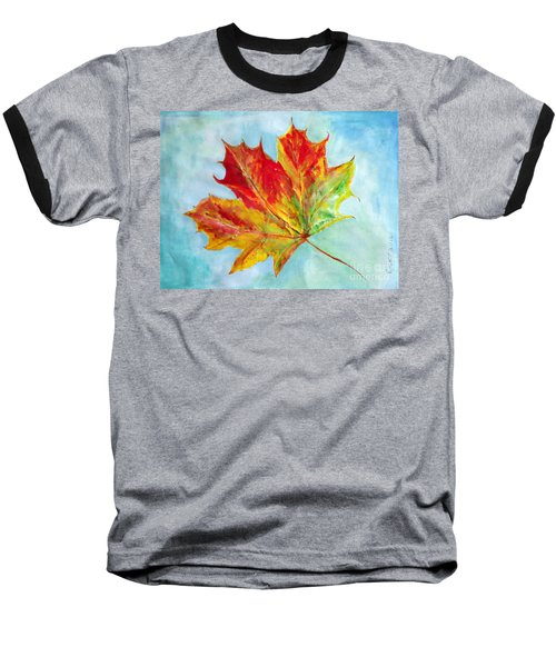 Falling Leaf - Painting Baseball T-Shirt