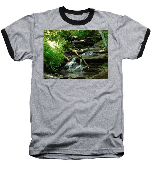 Baseball T-Shirt featuring the photograph Falling Water by Alan Lakin