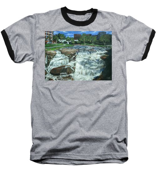 Baseball T-Shirt featuring the painting Falls River Park by Bryan Bustard