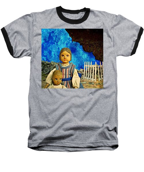 Baseball T-Shirt featuring the mixed media Family by Ally  White
