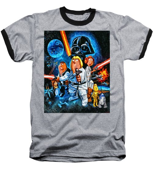 Family Guy Star Wars Baseball T-Shirt by Joe Misrasi