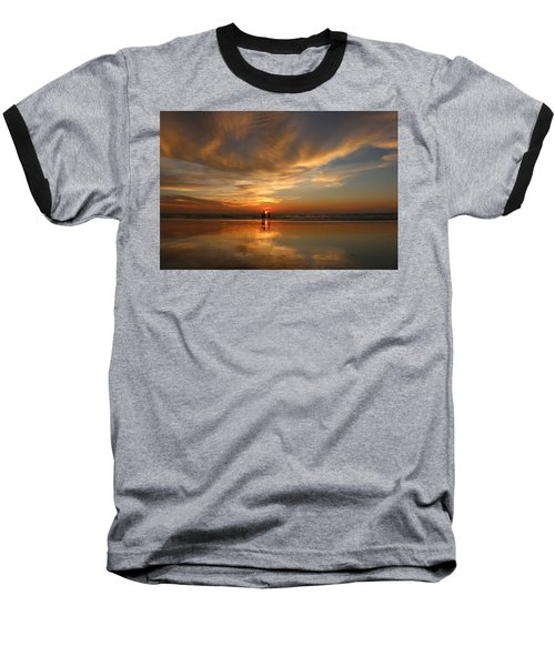 Family Reflections At Sunset - 2 Baseball T-Shirt